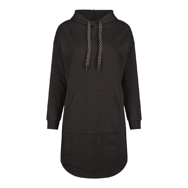 H&H Women's Scoop Hem Sweater Dress, Black, hi-res