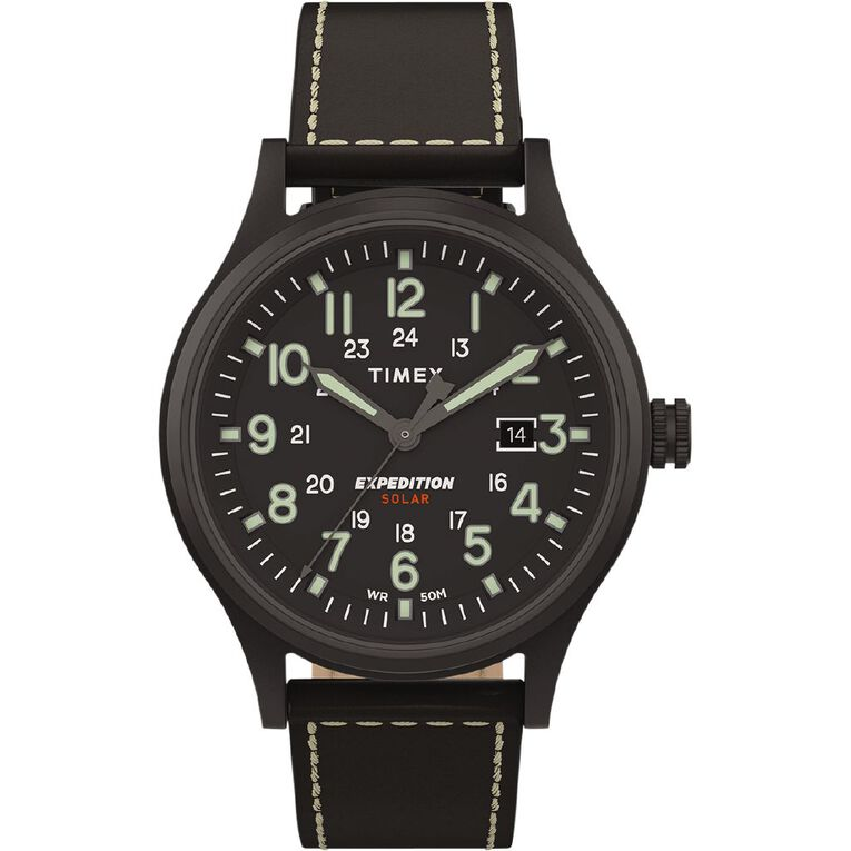 Timex Expedition Scout Solar 40mm Watch Black, , hi-res image number null