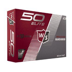 Wilson Fifty Elite 12 Golf Balls White