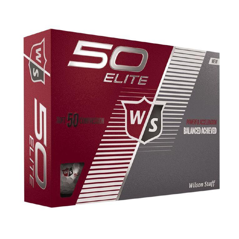 Wilson Fifty Elite 12 Golf Balls White, , hi-res