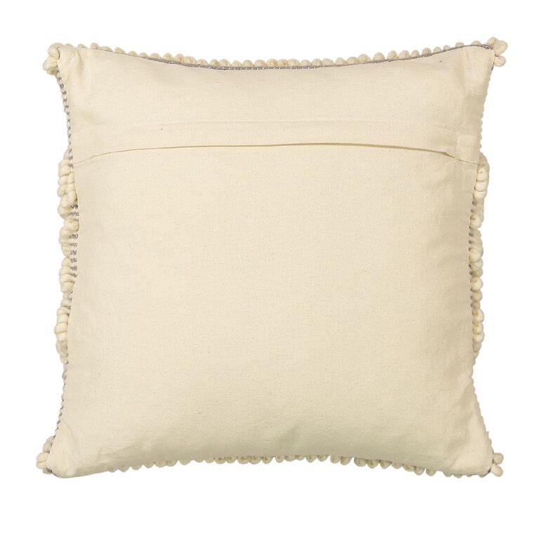 Living & Co Inca Bobble Cushion Natural 45cm x 45cm, Natural, hi-res