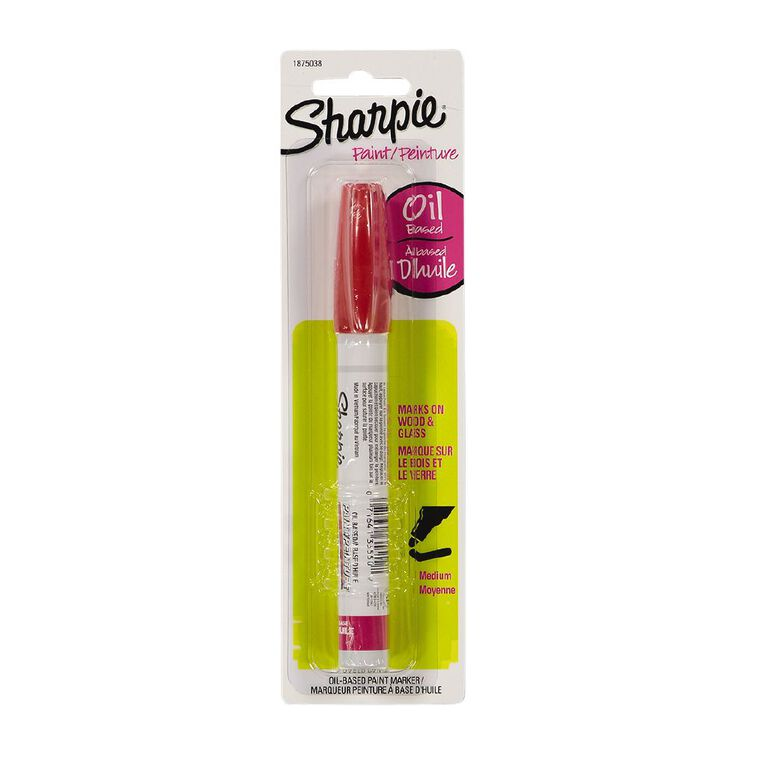 Sharpie Oil-Based Paint Marker Medium Point Red - 1-pack, , hi-res