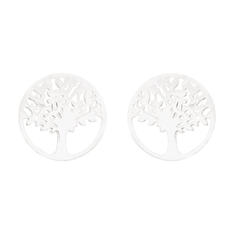 Sterling Silver Tree of Life Stud Earring, , hi-res