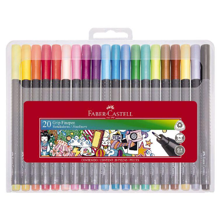 Faber-Castell Grip Fine Pen 0.4mm - Hard Case of 20, , hi-res