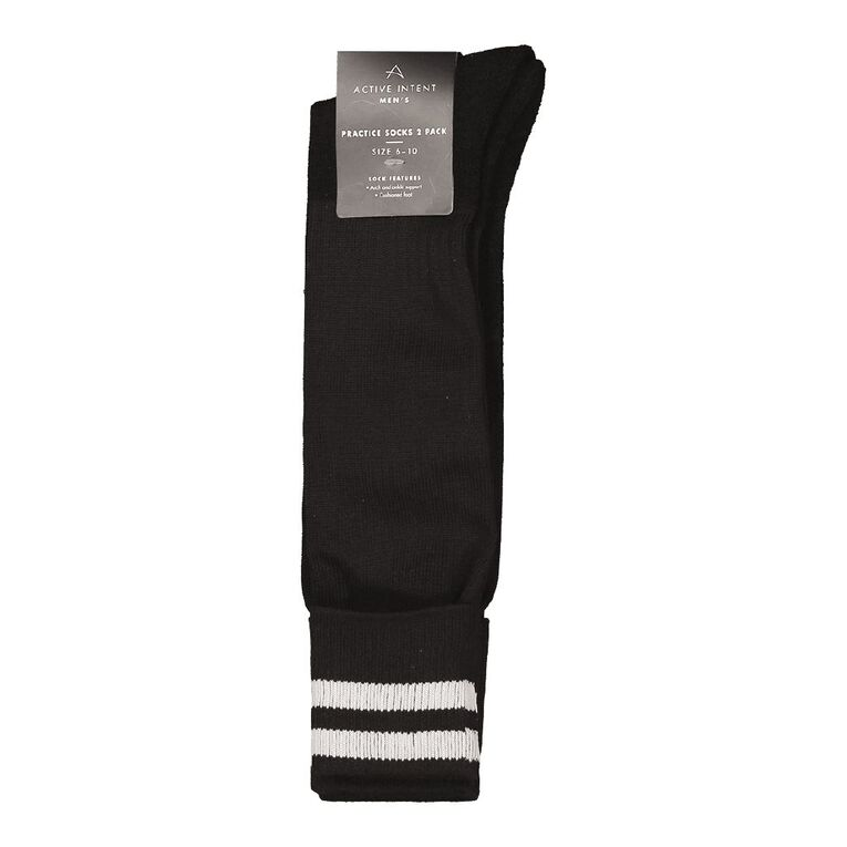 Active Intent Men's Practice Socks 2pk, Black, hi-res