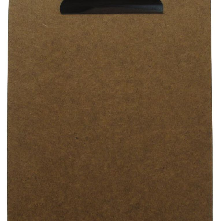 Office Supply Co Hardboard Clipboard Brown A5, , hi-res