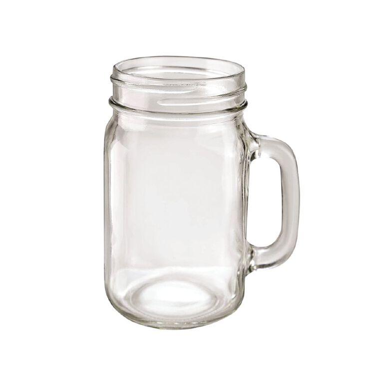 Living & Co Classic Glass Mason Jar 480ml, , hi-res