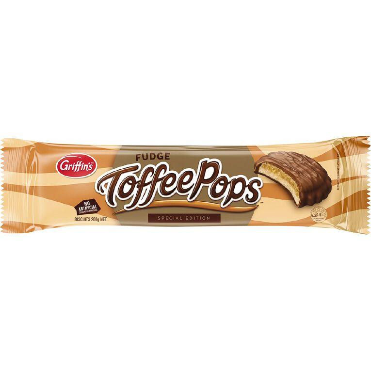 Griffin's Toffeepops Fudge Biscuits 180g, , hi-res