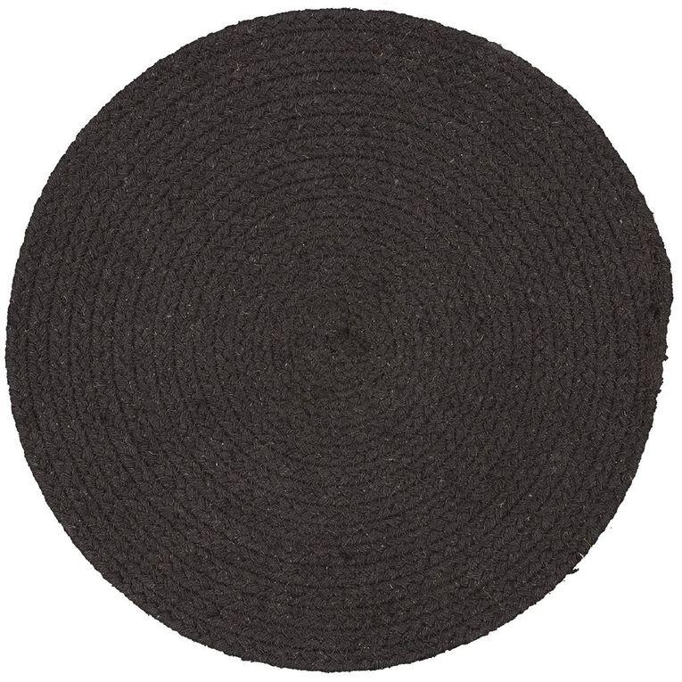 Living & Co Coast Cotton Placemat Black 33cm, , hi-res
