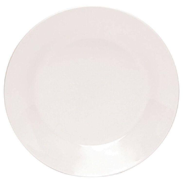 Living & Co Essentials Side Plate White 19cm, , hi-res