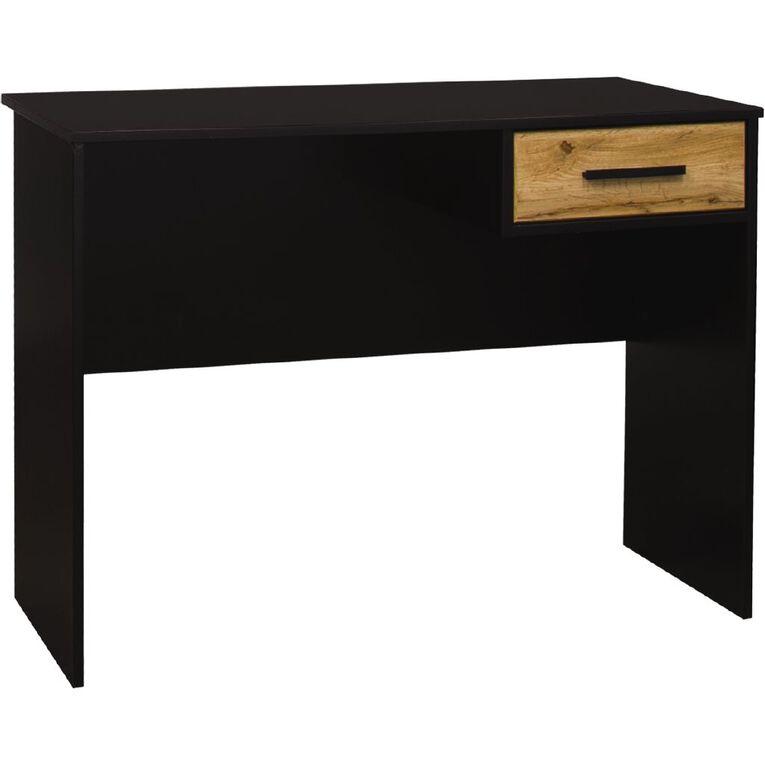 Living & Co Takiwira 1 Drawer Desk Black, , hi-res