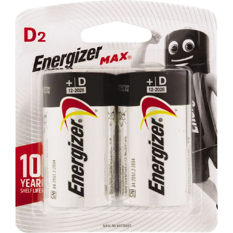 Energizer Max Batteries D 2 Pack, , hi-res