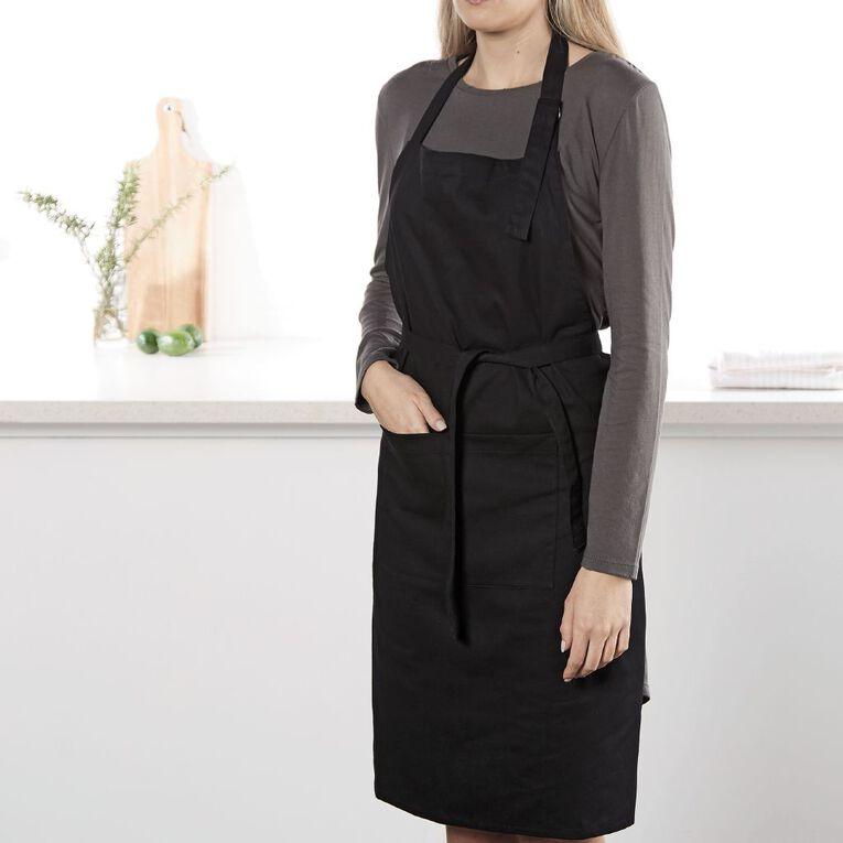 Living & Co Apron Black 70cm x 90cm, , hi-res