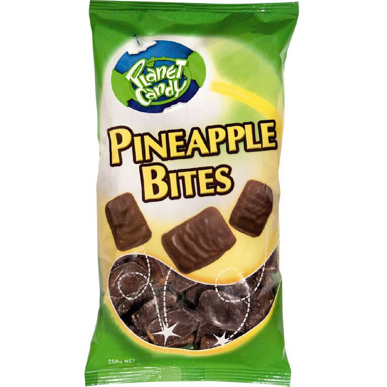 Planet Candy Pineapple Bites 250g, , hi-res