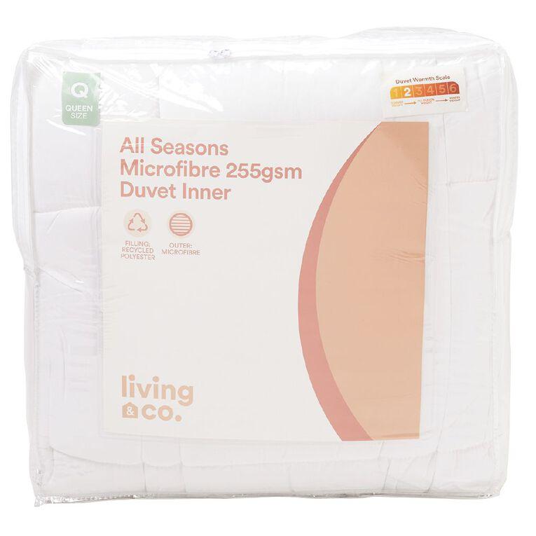 Living & Co Duvet Inner All Seasons Microfibre White King, White, hi-res