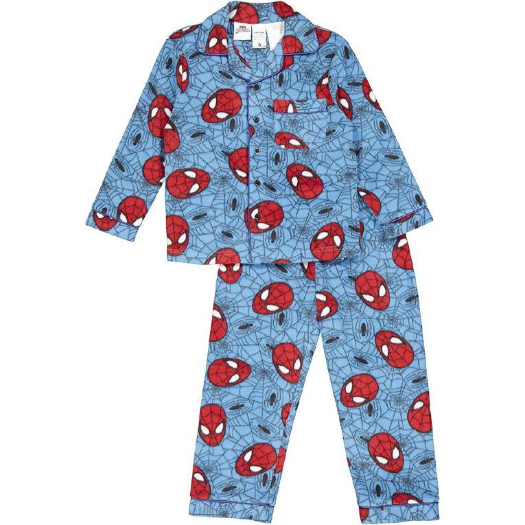 Spider-Man Boys' Fleece Pyjama, Blue Dark, hi-res
