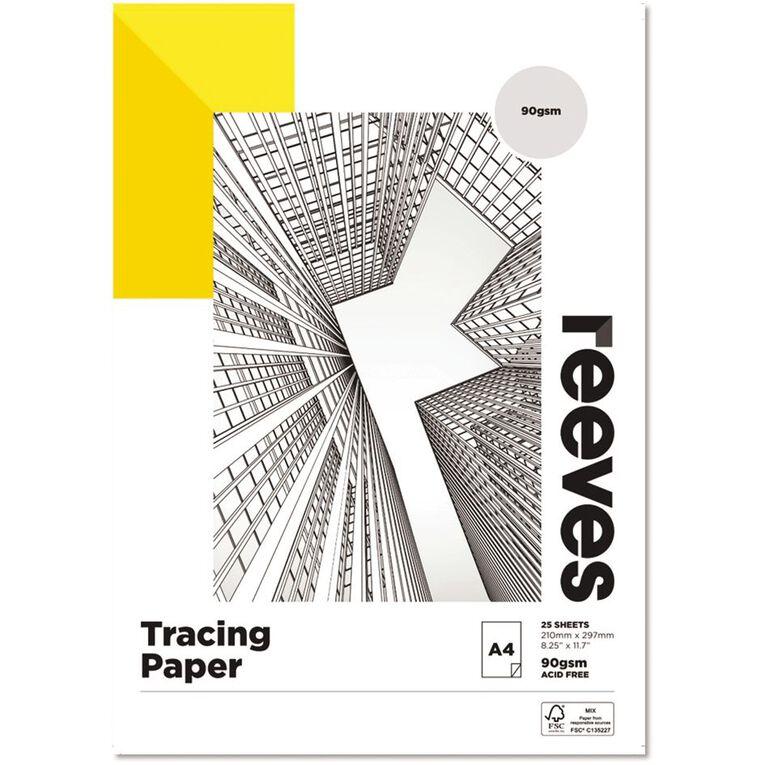 Reeves Tracing Pad 90gsm 25 Sheets A4, , hi-res