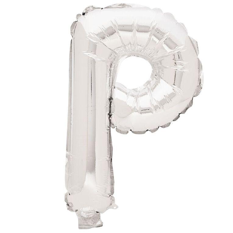 Artwrap Foil Balloon P Silver 35cm, , hi-res