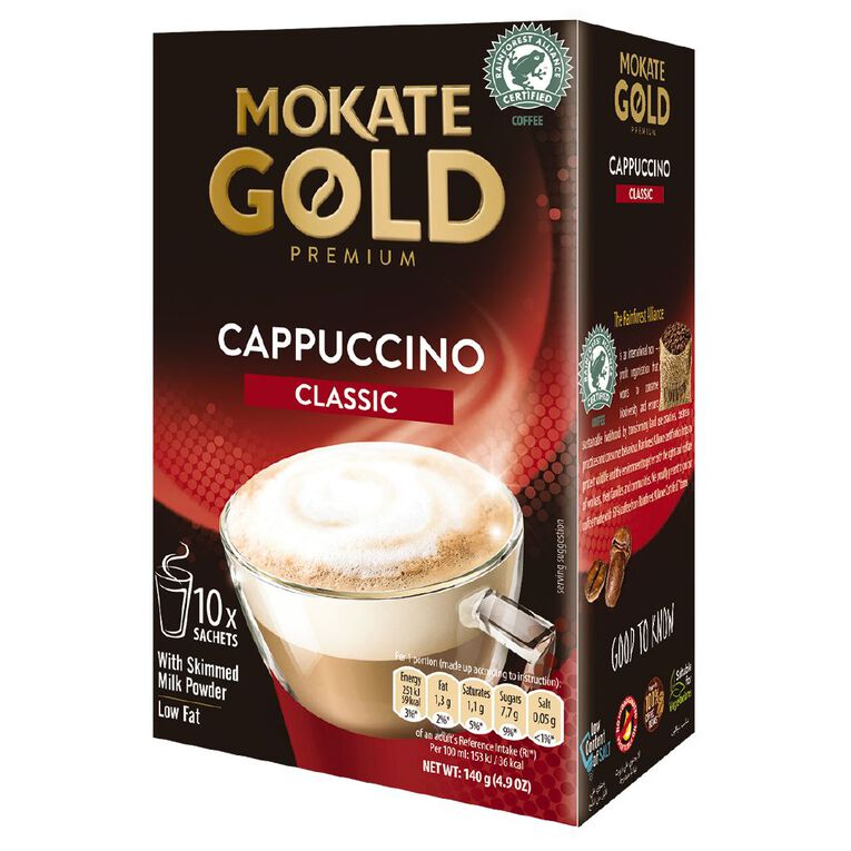 Mokate Gold Premium Cappuccino Classic 10 Sachets, , hi-res