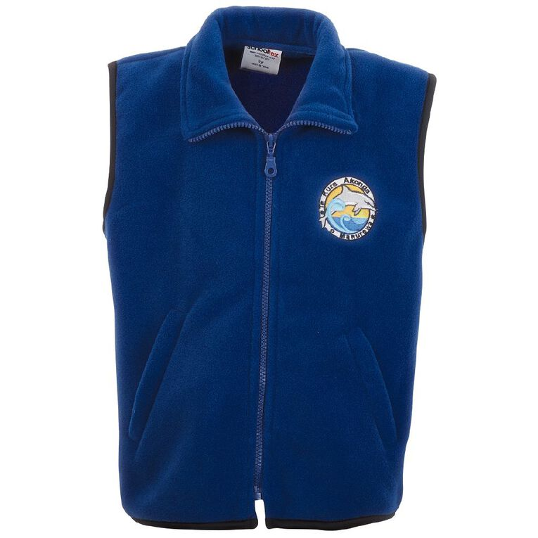 Schooltex Te Kura Akonga O Manurewa Polar Fleece Vest with Embroidery, Royal, hi-res