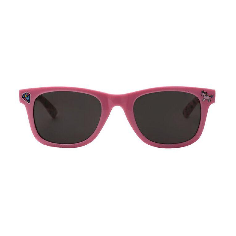 Kids Rainbows and Unicorns Sunglasses, Pink, hi-res