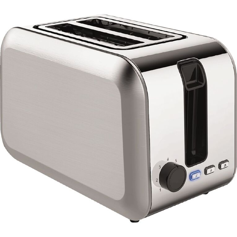 Living & Co Toaster 2 Slice Stainless Steel, , hi-res