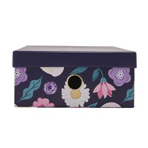 Uniti Blossom Storage Box Navy A4