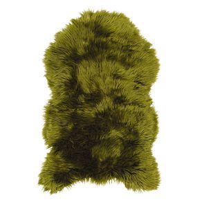Living & Co Faux Sheepskin Rug Green