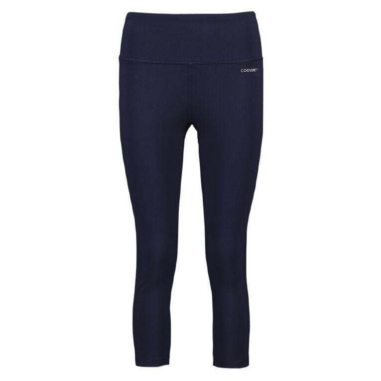 Active Intent Women's Cooldry Crop Leggings, Blue Dark, hi-res