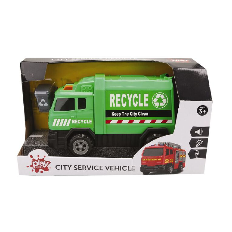 Play Studio Friction Power Garbage Truck with Lights and Sounds, , hi-res