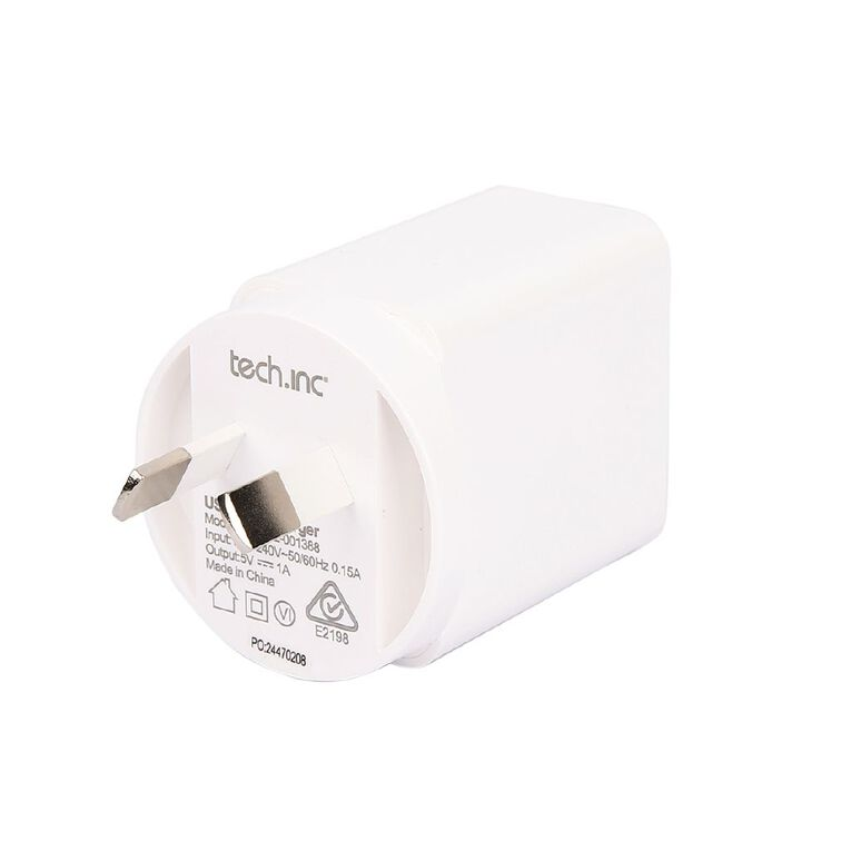 Tech.Inc Wall Charger 1A White, , hi-res image number null
