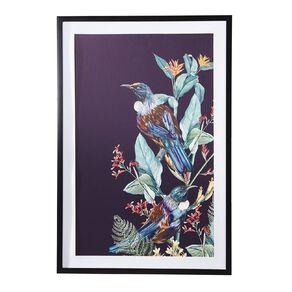 Living & Co Tui Kiwiana Framed Print Black 60 x 90 x 2.3cm