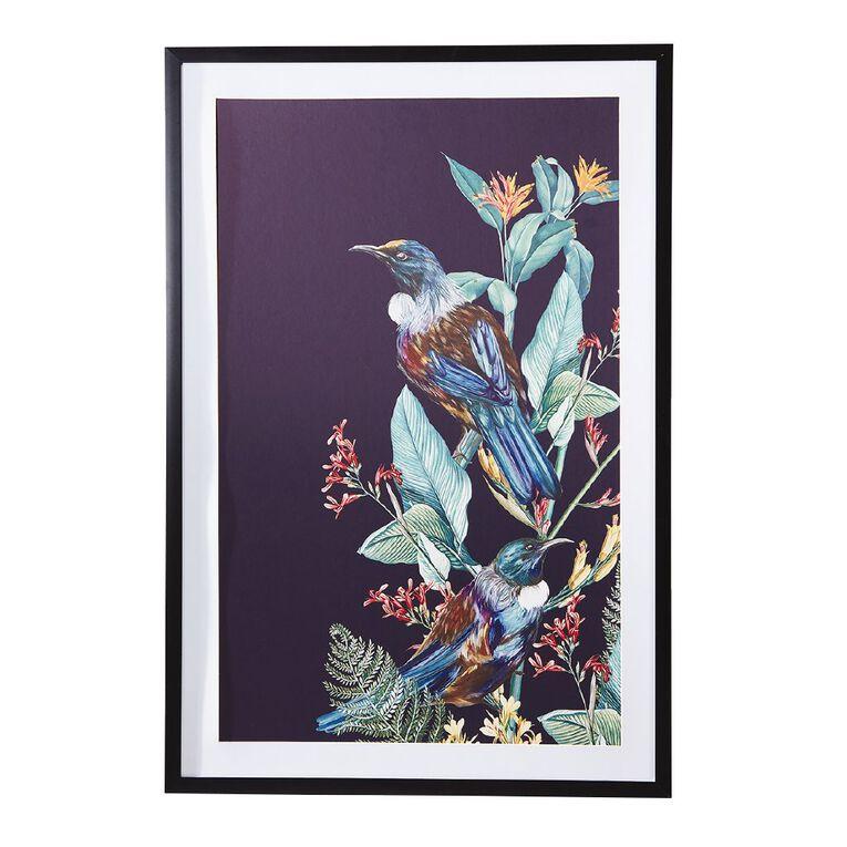Living & Co Tui Kiwiana Framed Print Black 60 x 90 x 2.3cm, , hi-res