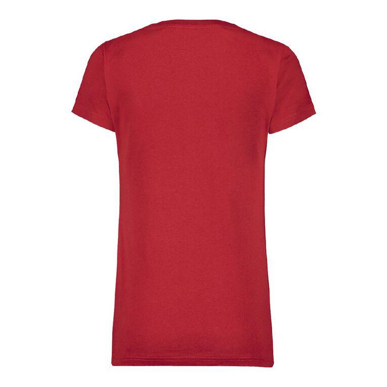 H&H Women's V-Neck Tee, Red, hi-res