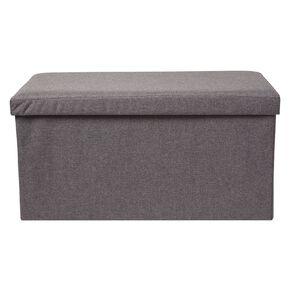 Living & Co Folding Storage Ottoman Grey Dark Double