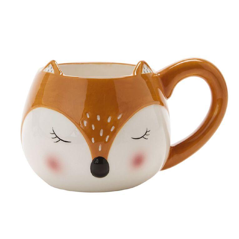 Living & Co Fox Shaped Novelty Mug, , hi-res