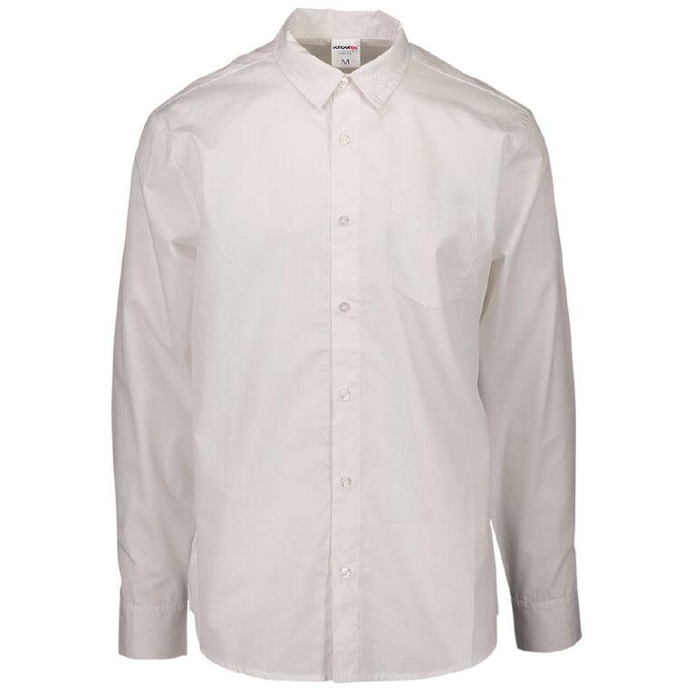 Schooltex Marcellin Senior Boys' Long Sleeve Shirt, White, hi-res