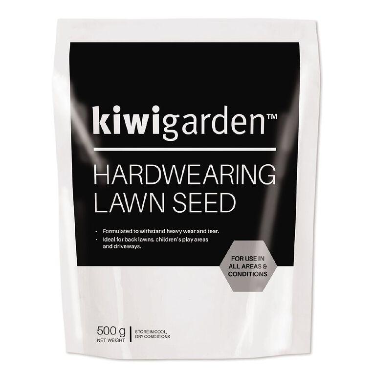 Kiwi Garden Hardwearing Lawn Seeds 500g, , hi-res