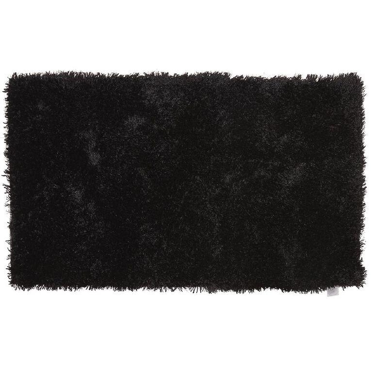 Living & Co Brooklyn Small Rug Black 70cm x 120cm, Black, hi-res