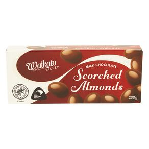 Waikato Valley Chocolates Milk Chocolate Scorched Almonds 200g