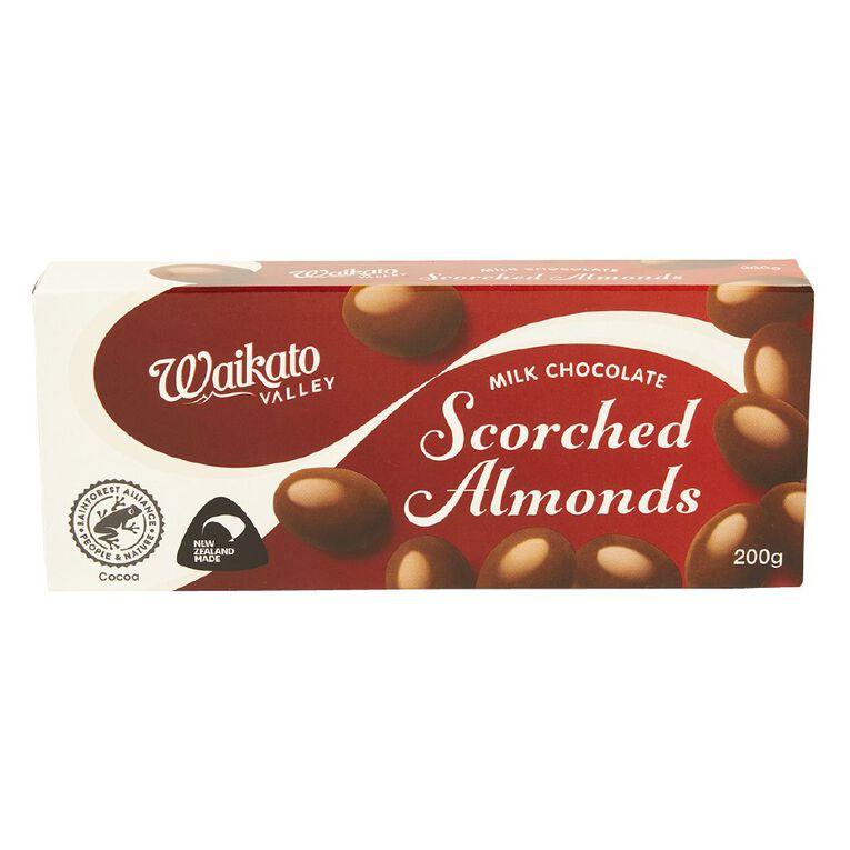Waikato Valley Chocolates Milk Chocolate Scorched Almonds 200g, , hi-res