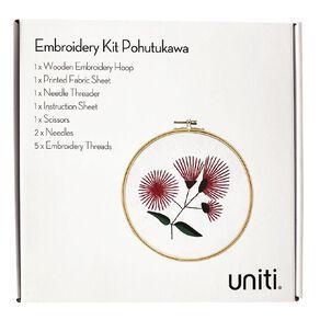 Uniti Embroidery Kit Pohutukawa 12 Pieces