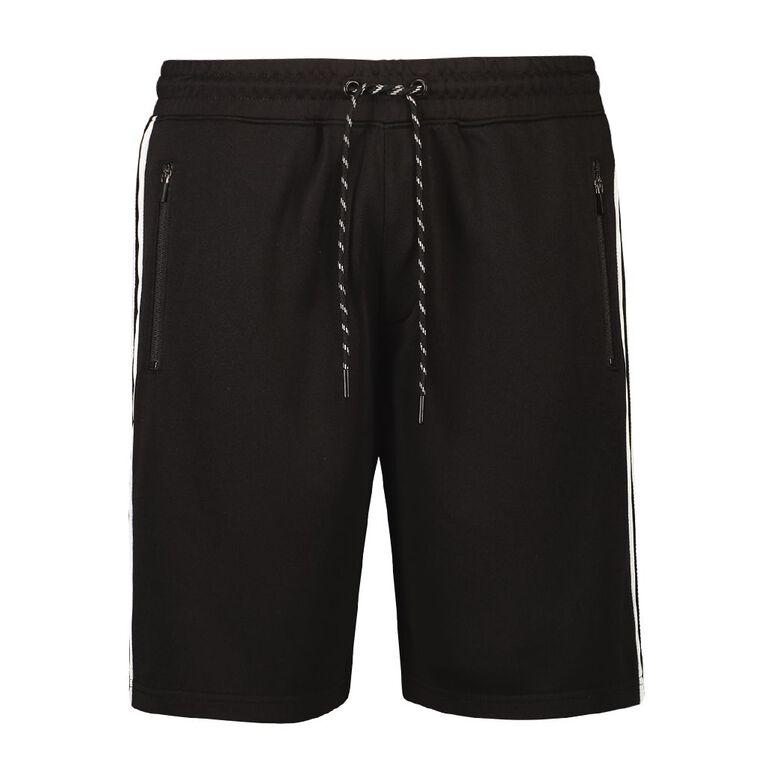 Active Intent Men's Track Tape Shorts, Black, hi-res