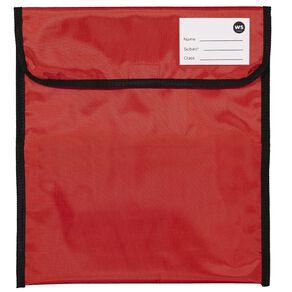 WS Book Bag Zipper Pocket 36cm x 33cm Red