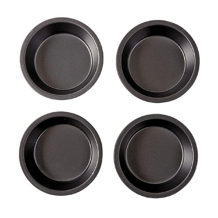 Living & Co Heavy Gauge Non Stick Mini Pie Pan 4 Piece, , hi-res