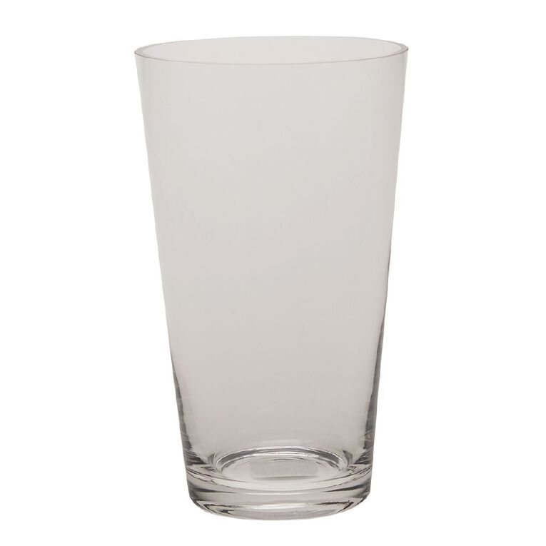 Living & Co Classic Flared Vase Clear 25cm, , hi-res