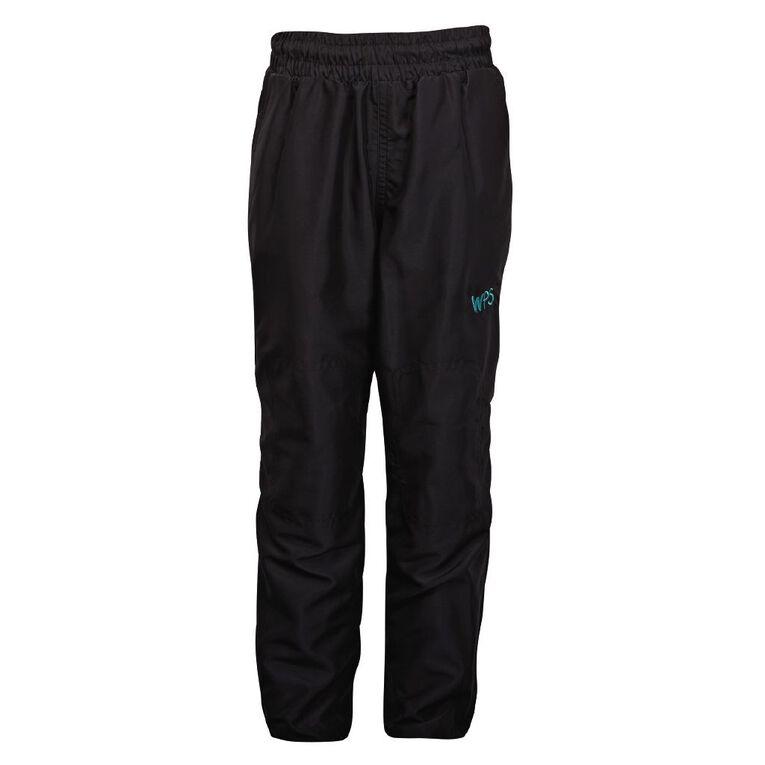 Schooltex Waipu Short Leg Trackpants with Embroidery, Black, hi-res