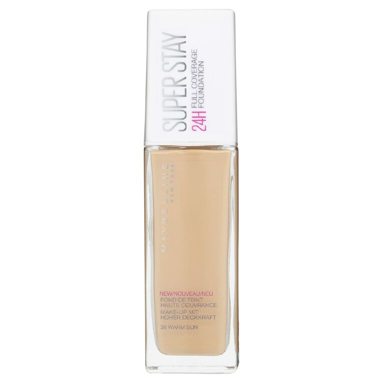 Maybelline SuperStay 24HR Full Coverage Foundation Warm Sun 36, , hi-res