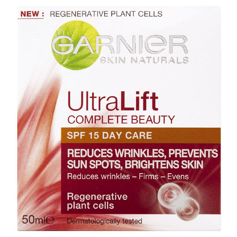 Garnier Skin Naturals Ultralift SPF15 Day Cream 50ml, , hi-res