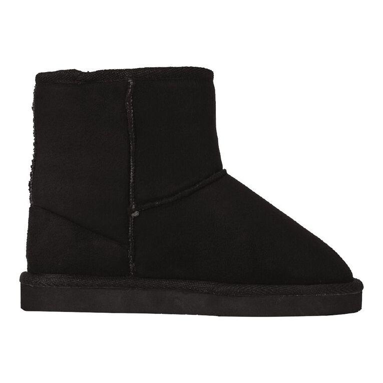 Young Original Boys' Harvest Slipper Boots, Black, hi-res